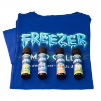 Freezer Sparpaket, 4 Aromen Plus T-Shirt Gr. XL